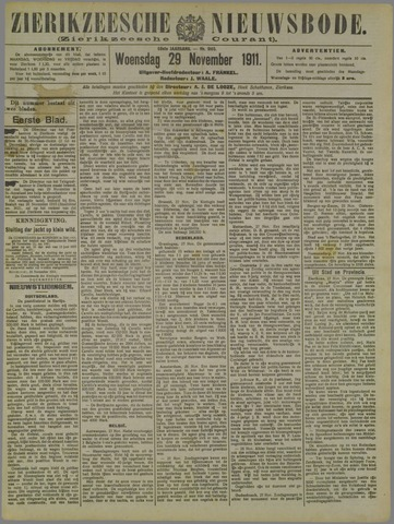 Zierikzeesche Nieuwsbode 1911-11-29