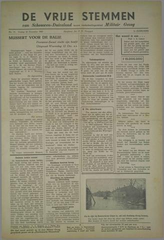 Vrije Stemmen van Schouwen-Duiveland, tevens mededeelingenblad Militair Gezag 1945-11-30