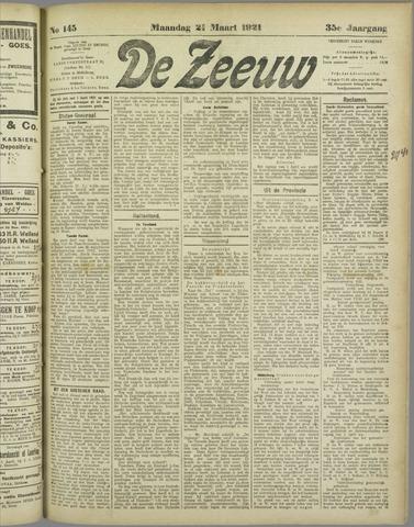 De Zeeuw. Christelijk-historisch nieuwsblad voor Zeeland 1921-03-21