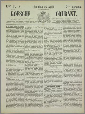 Goessche Courant 1887-04-23