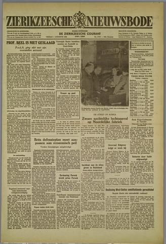 Zierikzeesche Nieuwsbode 1952-08-01