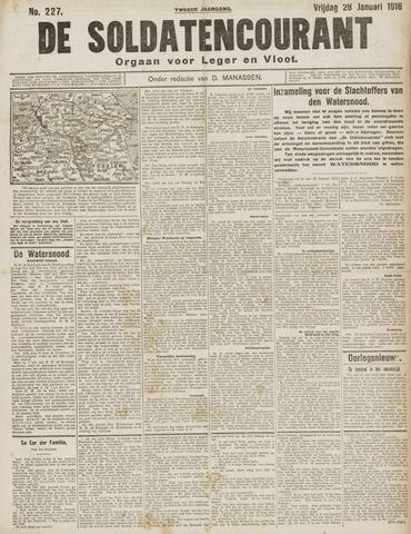 De Soldatencourant. Orgaan voor Leger en Vloot 1916-01-28