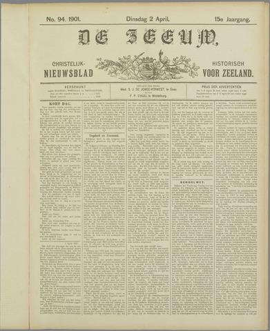 De Zeeuw. Christelijk-historisch nieuwsblad voor Zeeland 1901-04-02