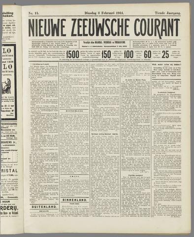Nieuwe Zeeuwsche Courant 1914-02-03