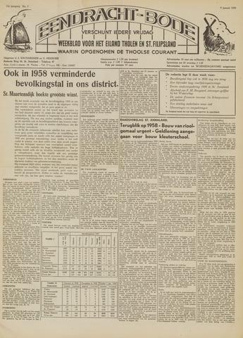 Eendrachtbode (1945-heden)/Mededeelingenblad voor het eiland Tholen (1944/45) 1959-01-09