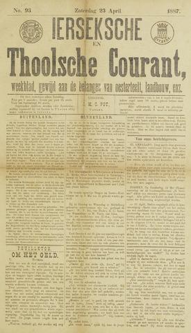 Ierseksche en Thoolsche Courant 1887-04-23