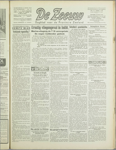 De Zeeuw. Christelijk-historisch nieuwsblad voor Zeeland 1937-10-13