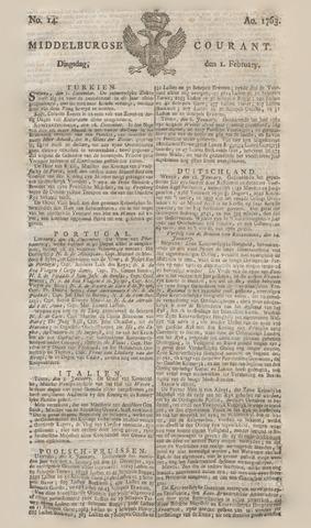 Middelburgsche Courant 1763-02-01