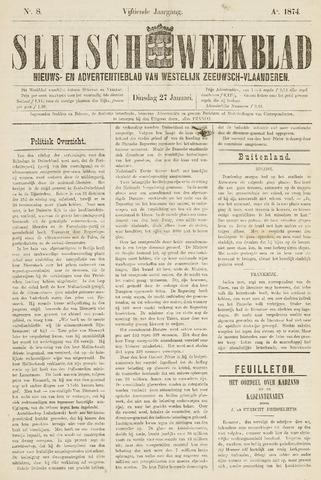 Sluisch Weekblad. Nieuws- en advertentieblad voor Westelijk Zeeuwsch-Vlaanderen 1874-01-27