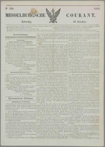 Middelburgsche Courant 1854-10-28