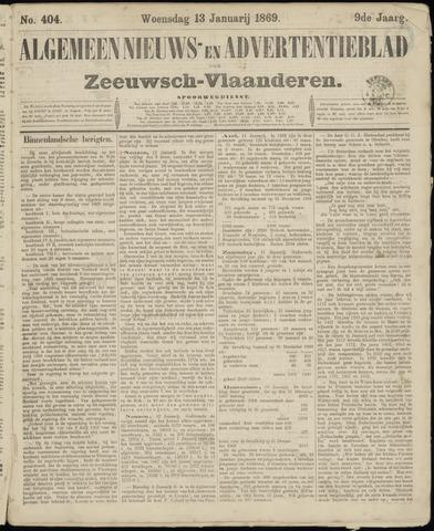 Ter Neuzensche Courant. Algemeen Nieuws- en Advertentieblad voor Zeeuwsch-Vlaanderen / Neuzensche Courant ... (idem) / (Algemeen) nieuws en advertentieblad voor Zeeuwsch-Vlaanderen 1869-01-13