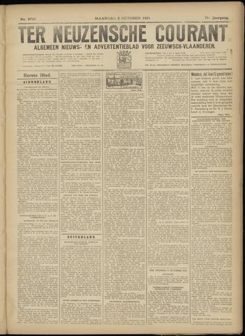 Ter Neuzensche Courant. Algemeen Nieuws- en Advertentieblad voor Zeeuwsch-Vlaanderen / Neuzensche Courant ... (idem) / (Algemeen) nieuws en advertentieblad voor Zeeuwsch-Vlaanderen 1931-10-05