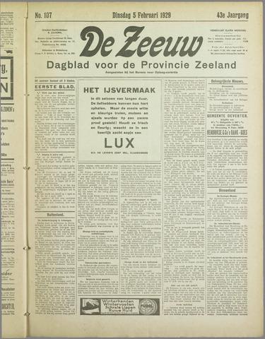 De Zeeuw. Christelijk-historisch nieuwsblad voor Zeeland 1929-02-05