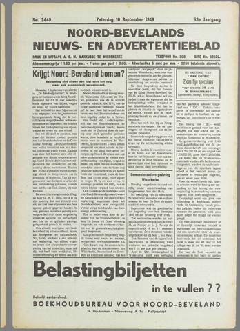 Noord-Bevelands Nieuws- en advertentieblad 1949-09-10