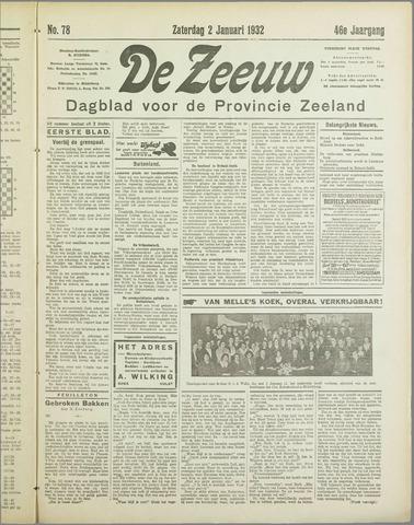 De Zeeuw. Christelijk-historisch nieuwsblad voor Zeeland 1932