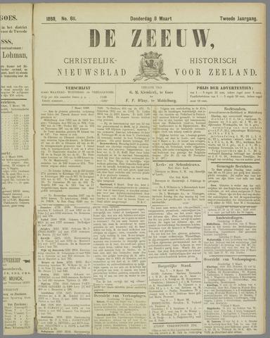 De Zeeuw. Christelijk-historisch nieuwsblad voor Zeeland 1888-03-08