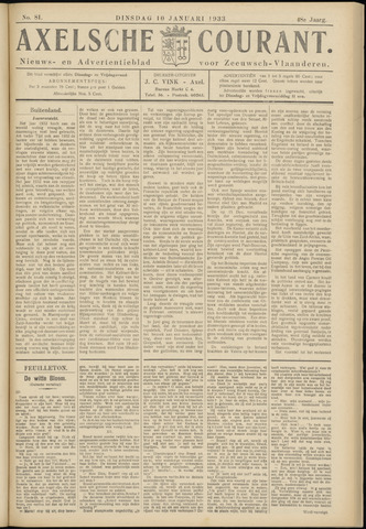 Axelsche Courant 1933-01-10