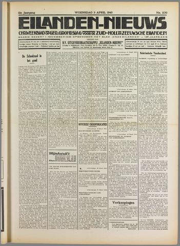Eilanden-nieuws. Christelijk streekblad op gereformeerde grondslag 1940-04-03