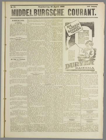 Middelburgsche Courant 1925-04-16