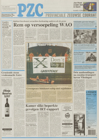 Provinciale Zeeuwse Courant 1996-11-08
