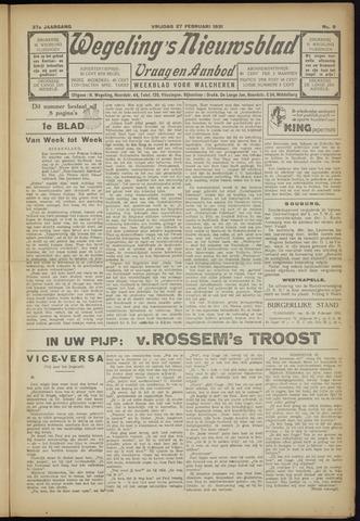 Zeeuwsch Nieuwsblad/Wegeling's Nieuwsblad 1931-02-27