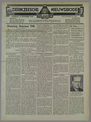 Zierikzeesche Nieuwsbode 1940-11-16