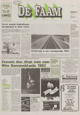de Faam en de Faam/de Vlissinger 1992-01-08
