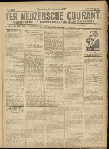 Ter Neuzensche Courant. Algemeen Nieuws- en Advertentieblad voor Zeeuwsch-Vlaanderen / Neuzensche Courant ... (idem) / (Algemeen) nieuws en advertentieblad voor Zeeuwsch-Vlaanderen 1927-08-31