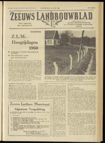 Zeeuwsch landbouwblad ... ZLM land- en tuinbouwblad 1960-06-11