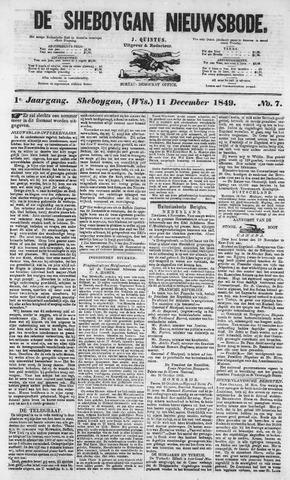 Sheboygan Nieuwsbode 1849-12-11