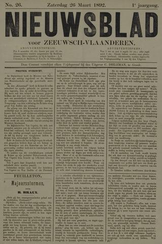 Nieuwsblad voor Zeeuwsch-Vlaanderen 1892-03-26
