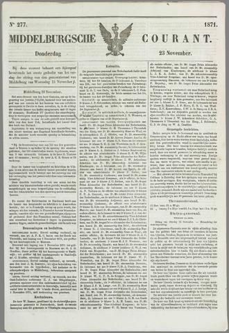 Middelburgsche Courant 1871-11-23