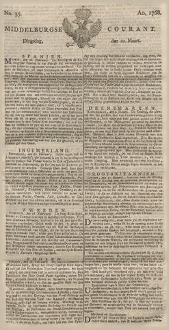 Middelburgsche Courant 1768-03-22