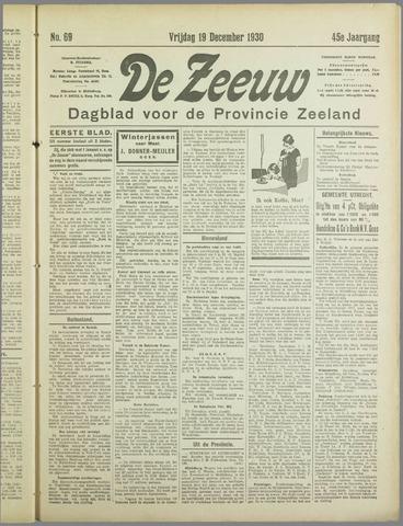 De Zeeuw. Christelijk-historisch nieuwsblad voor Zeeland 1930-12-19