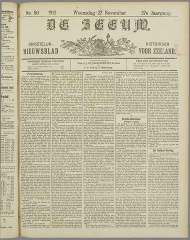 De Zeeuw. Christelijk-historisch nieuwsblad voor Zeeland 1912-11-27