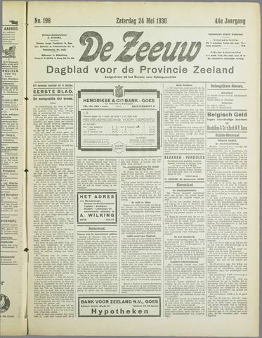 De Zeeuw. Christelijk-historisch nieuwsblad voor Zeeland 1930-05-24