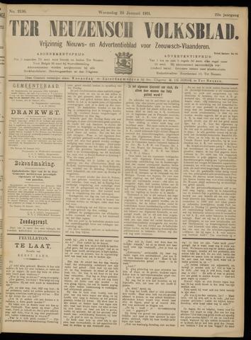 Ter Neuzensch Volksblad. Vrijzinnig nieuws- en advertentieblad voor Zeeuwsch- Vlaanderen / Zeeuwsch Nieuwsblad. Nieuws- en advertentieblad voor Zeeland 1911-01-25