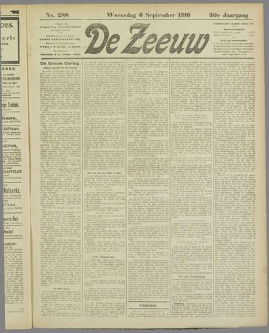 De Zeeuw. Christelijk-historisch nieuwsblad voor Zeeland 1916-09-06