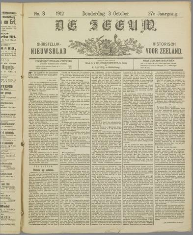 De Zeeuw. Christelijk-historisch nieuwsblad voor Zeeland 1912-10-03
