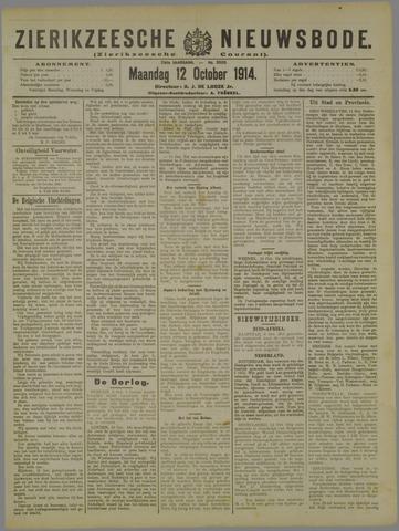 Zierikzeesche Nieuwsbode 1914-10-12