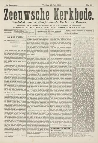 Zeeuwsche kerkbode, weekblad gewijd aan de belangen der gereformeerde kerken/ Zeeuwsch kerkblad 1915-07-23
