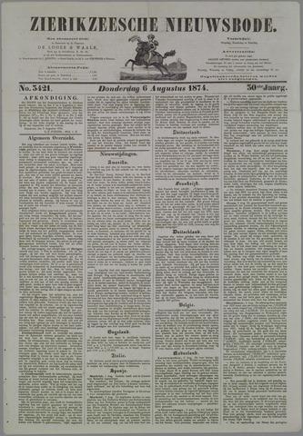 Zierikzeesche Nieuwsbode 1874-08-06
