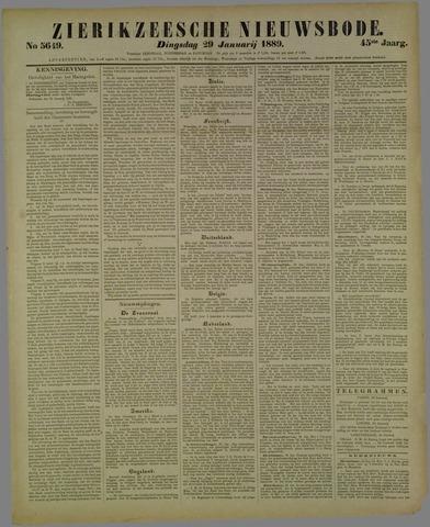 Zierikzeesche Nieuwsbode 1889-01-29