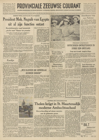 Provinciale Zeeuwse Courant 1954-02-26
