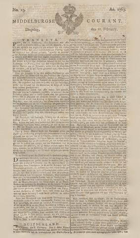 Middelburgsche Courant 1763-02-22
