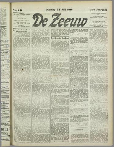 De Zeeuw. Christelijk-historisch nieuwsblad voor Zeeland 1918-07-23