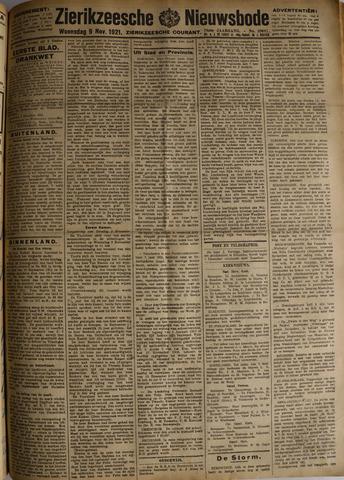 Zierikzeesche Nieuwsbode 1921-11-09