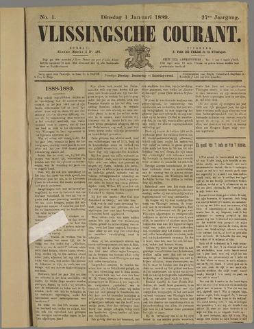 Vlissingse Courant 1889