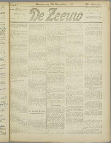De Zeeuw. Christelijk-historisch nieuwsblad voor Zeeland 1917-12-20