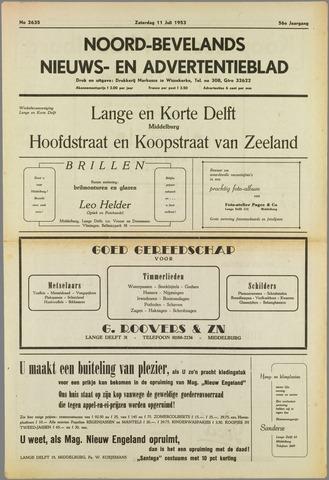 Noord-Bevelands Nieuws- en advertentieblad 1953-07-11